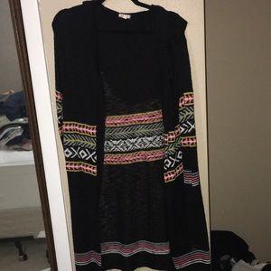 Sweaters - Long black cardigan